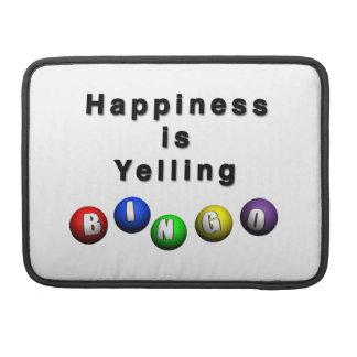 La felicidad está gritando BINGO Fundas Para Macbook Pro