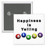 La felicidad está gritando BINGO Pins