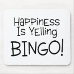 La felicidad está gritando bingo alfombrilla de raton