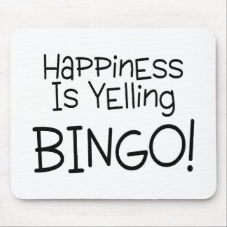 La felicidad está gritando bingo tapetes de raton