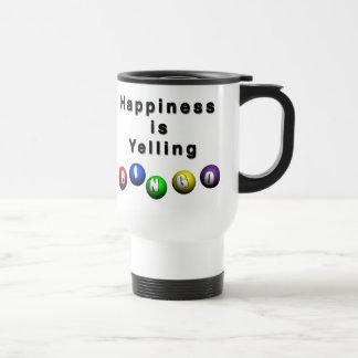 La felicidad está gritando BINGO Taza Térmica