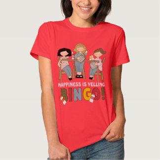 La felicidad ESTÁ GRITANDO la camiseta para mujer Camisas