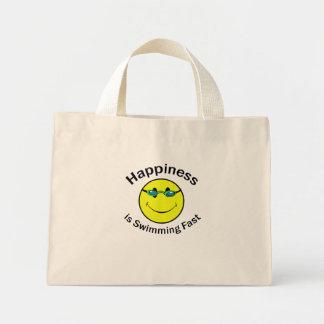 La felicidad está nadando rápidamente bolsa de mano
