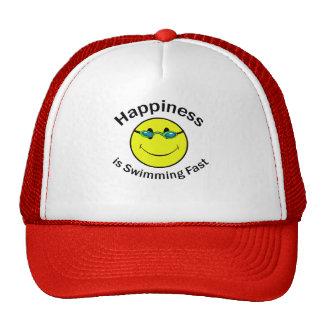 La felicidad está nadando rápidamente gorras de camionero