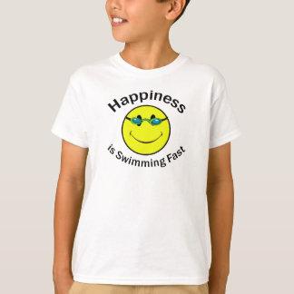 La felicidad está nadando rápidamente playera