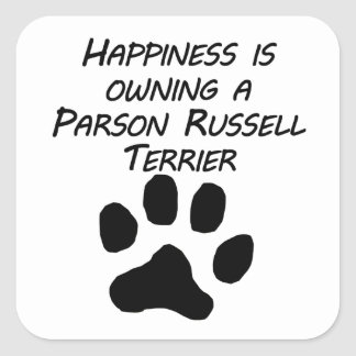 La felicidad está poseyendo a un párroco Russell Pegatinas Cuadradases Personalizadas