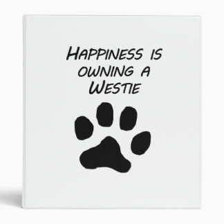 La felicidad está poseyendo un Westie