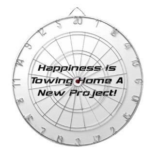 La felicidad está remolcando a casa un nuevo tablero dardos