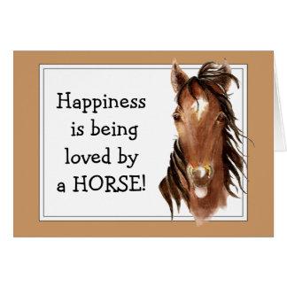 ¡La felicidad está siendo amada por un CABALLO! Hu Tarjetón