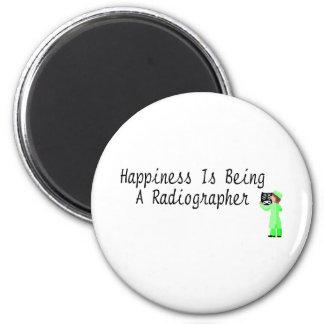 La felicidad está siendo ayudante radiólogo imán redondo 5 cm
