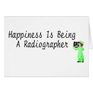La felicidad está siendo ayudante radiólogo tarjeton