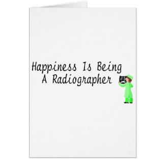La felicidad está siendo ayudante radiólogo felicitación