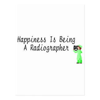 La felicidad está siendo ayudante radiólogo postal