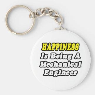 La felicidad está siendo ingeniero industrial llavero redondo tipo pin