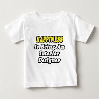 La felicidad está siendo interiorista playera de bebé
