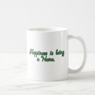 La felicidad está siendo los Nona Taza De Café