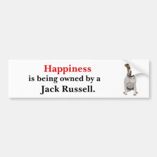La felicidad está siendo poseída por Jack Russell Pegatina Para Auto