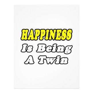 La felicidad está siendo un gemelo flyer personalizado