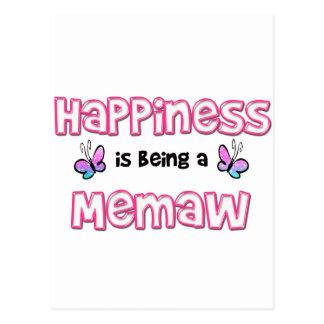 La felicidad está siendo un Memaw Postales