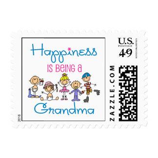 La felicidad está siendo una abuela timbre postal