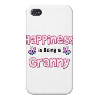 La felicidad está siendo una abuelita iPhone 4 funda