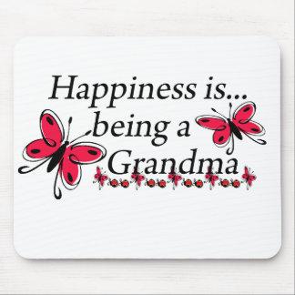 La felicidad está siendo una MARIPOSA de la abuela Tapete De Ratón