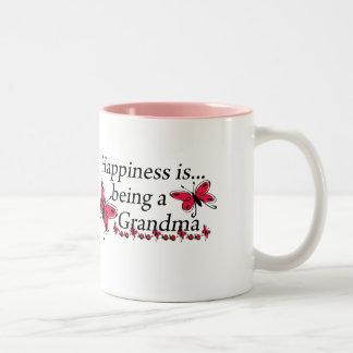 La felicidad está siendo una MARIPOSA de la abuela Tazas