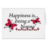 La felicidad está siendo una MARIPOSA de Nonna Tarjeta De Felicitación