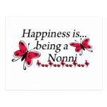 La felicidad está siendo una MARIPOSA de Nonni Tarjetas Postales