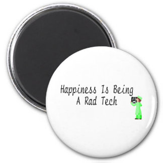La felicidad está siendo una tecnología del Rad Imán Redondo 5 Cm