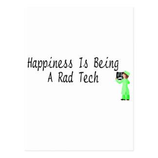 La felicidad está siendo una tecnología del Rad Tarjeta Postal