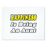 La felicidad está siendo una tía invitación personalizada