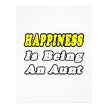 La felicidad está siendo una tía membrete a diseño