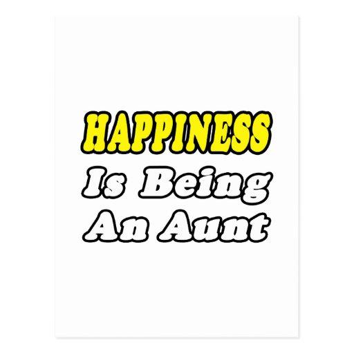 La felicidad está siendo una tía postal