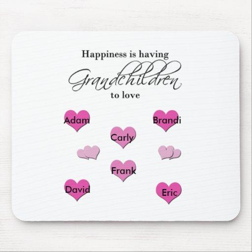 La felicidad está teniendo nietos a amar tapete de raton