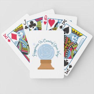 La felicidad está viniendo baraja de cartas