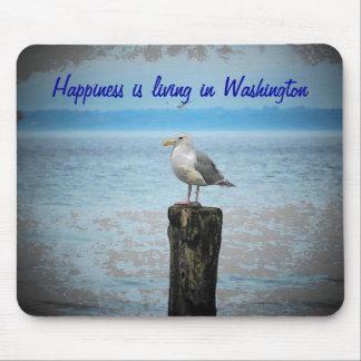 La felicidad está viviendo en Washington Alfombrilla De Ratones