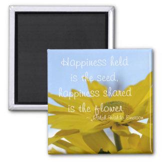 La felicidad llevada a cabo es la semilla imán cuadrado