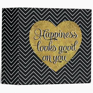 """La felicidad mira el buen negro Chevron del Carpeta 2"""""""