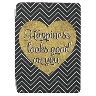 La felicidad mira el buen negro Chevron del Cubierta De iPad Air