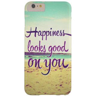 La felicidad parece buena en usted funda para iPhone 6 plus barely there