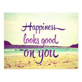 La felicidad parece buena en usted postales