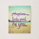 La felicidad parece buena en usted rompecabeza