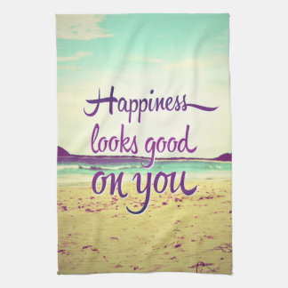 La felicidad parece buena en usted toallas de cocina