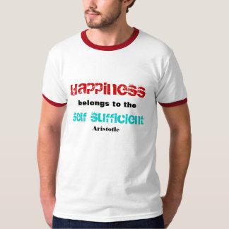 La felicidad pertenece a las camisetas playeras