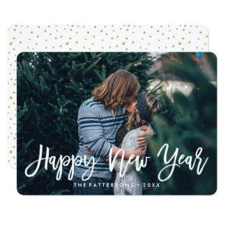 """La Feliz Año Nuevo cubrió la tarjeta de la foto Invitación 5"""" X 7"""""""