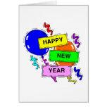 La Feliz Año Nuevo hincha la tarjeta de felicitaci