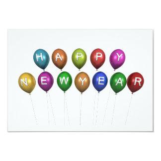 """La Feliz Año Nuevo hincha la tarjeta de la Invitación 3.5"""" X 5"""""""