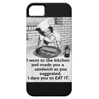 La feminista divertida me hace un bocadillo iPhone 5 fundas