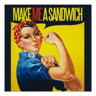 La feminista me hace un bocadillo poster